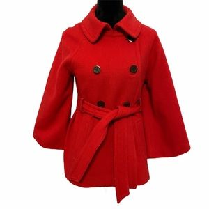J. CREW Double Breasted Wool Blend Peacoat Sz 8